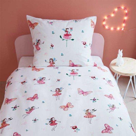 Beddinghouse Kids Butterfly Girl - Eenpersoons - 120x150 cm - Roze