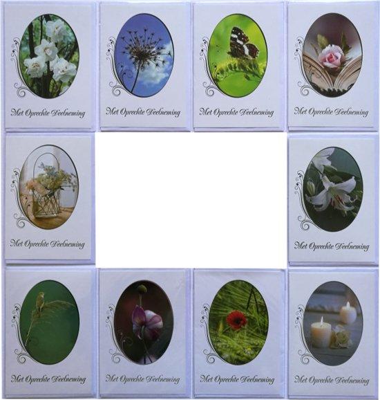 Rouwkaarten  Condoleance kaarten  Set van 10  L-065