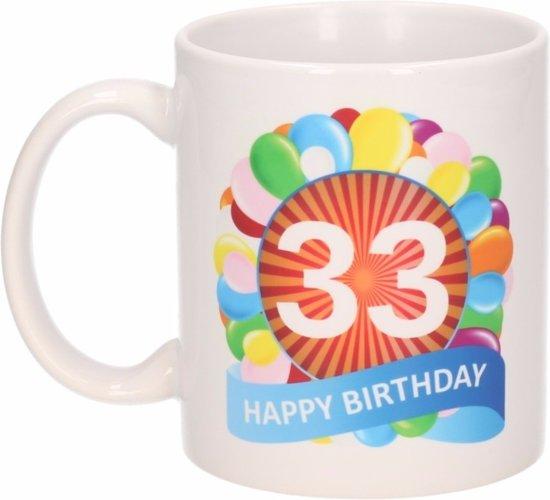 Bol Com Verjaardag Ballonnen Mok Beker 33 Jaar Shoppartners