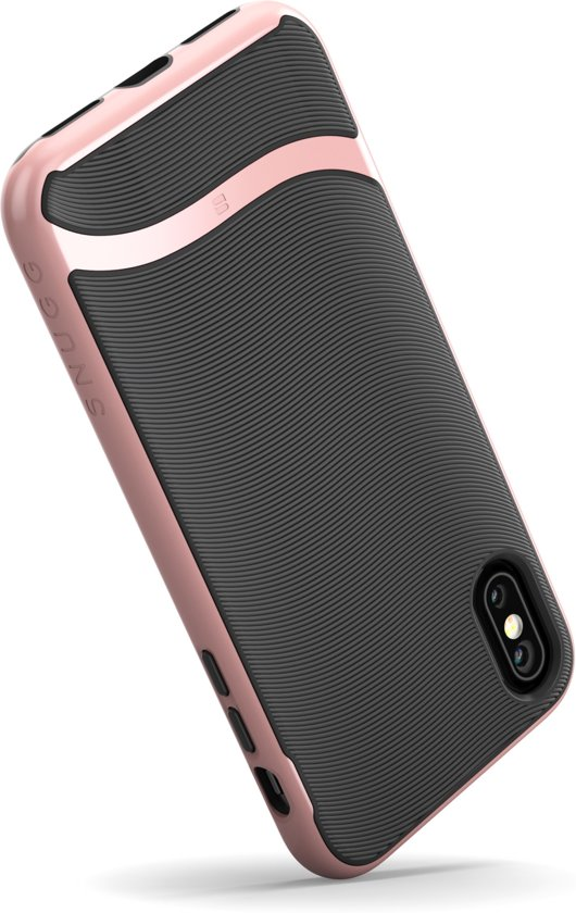 info for 451a7 168da Snugg Apple iPhone X Slim Cover Schokbestendige Hardcase [Cascade serie] -  roségoud