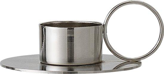 Bloomingville kandelaar zilver Ø9,5xH4,5 cm