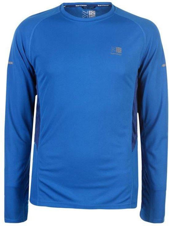 Karrimor Hardloop shirt lange mouw - Runningshirt - Heren - Cobalt blauw - XL