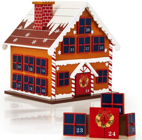 Adventskalender Houten Winterhuisje, Kerst, Advent