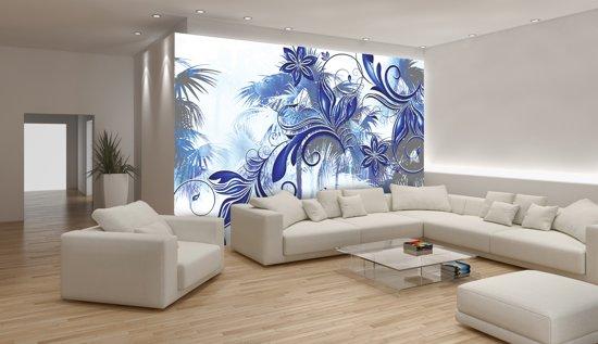Fotobehang Papier Abstract, Modern | Blauw | 368x254cm