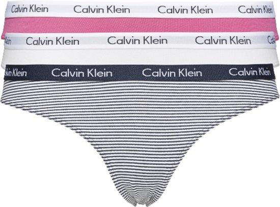 4c6c97e384 CALVIN KLEIN 3-PACK BIKINI SOPHIE PINK/WHITE/FEEDER STRIPE_SHORELIN