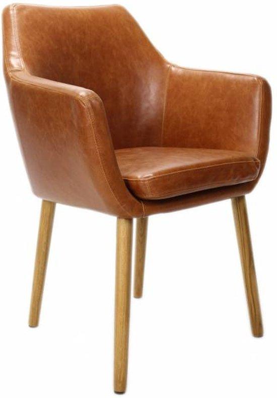 Fauteuil Leer Design.Fauteuil Leer Design Cognac
