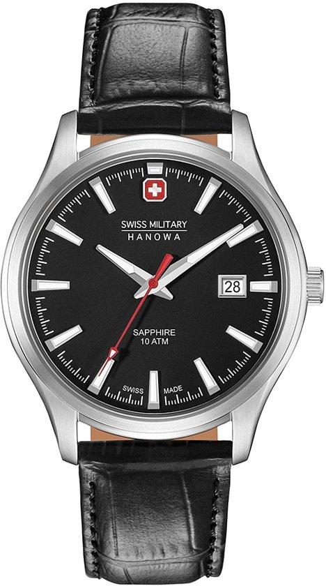 Swiss Military Hanowa 06-4303.04.007 horloge heren - zwart - edelstaal