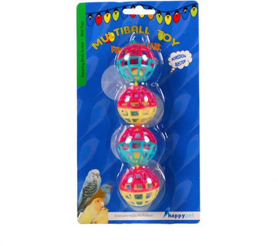 Happy Pet Fun At The Fair Multi Ball Toy - Vogelspeelgoed - 20 x 4 x 4 cm