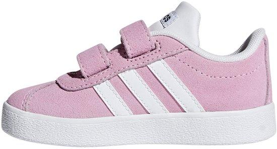 adidas Vl Court 2.0 Cmf I Meisjes Sneakers - True Pink/Ftwr White/Grey Six - Maat 27