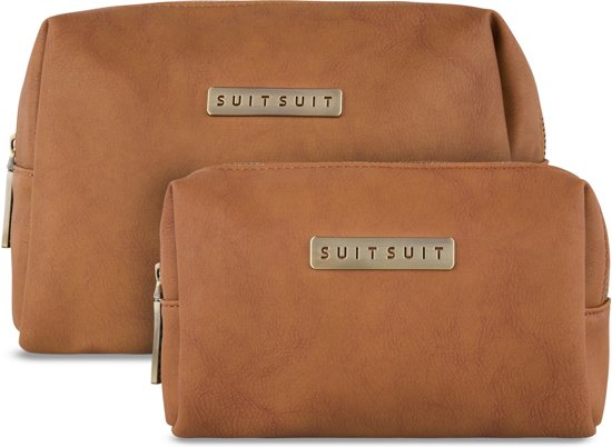 SUITSUIT Fab Seventies Toiletry Beauty Set - Golden Brown