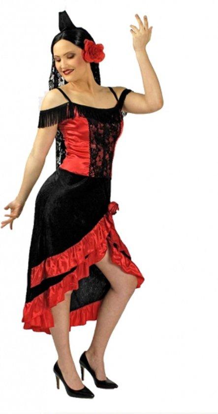 Spaanse flamenco jurk met hoofdsluier 36/38