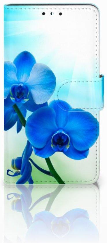 Uniek Design Hoesje Orchidee Blauw voor de Huawei Y5 (2017) in Harelbeke