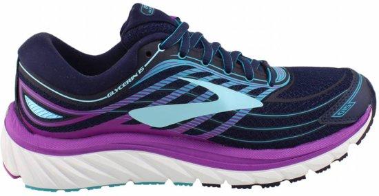 Brooks Glycerin 15 Hardloopschoenen Dames Sportschoenen - Maat 38 - Vrouwen - blauw/roze
