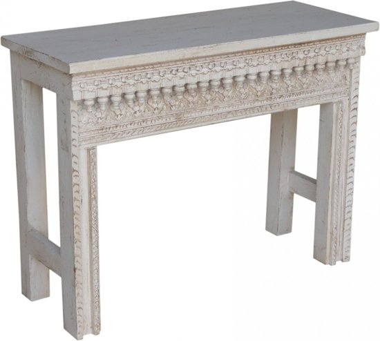 Side Table India.Side Table White Wash Otentic Design India Meubel