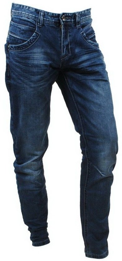 bol | cars jeans - heren jeans - tapered fit - stretch - lengte