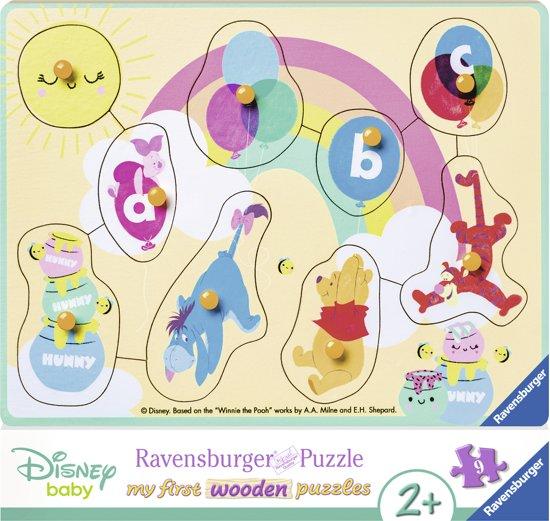 Ravensburger houten puzzel Winnie the Pooh en zijn vrienden -9 stukjes
