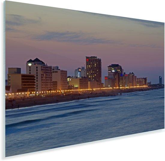 De skyline van Virginia Beach in Noord-Amerika Plexiglas 30x20 cm - klein - Foto print op Glas (Plexiglas wanddecoratie)