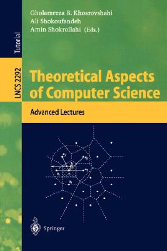 Theoretical Aspects of Computer Science