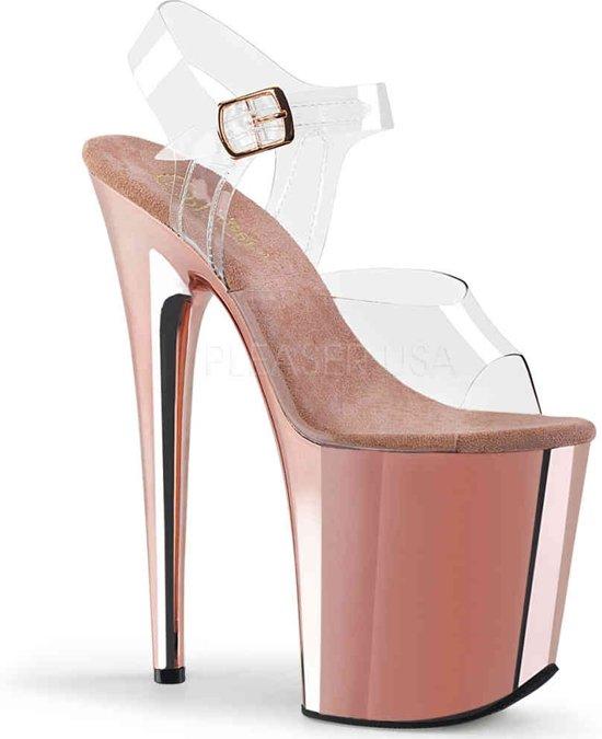 EU 36 = US 6 | FLAMINGO-808 | 8 Heel, 4 PF Ankle Strap Sandal