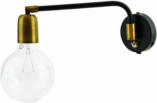 House Doctor Molecular - Wandlamp - Messing/Zwart