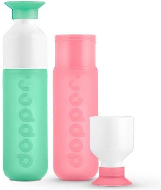 Dopper - duo set 2 kleuren - Mintata en Pink