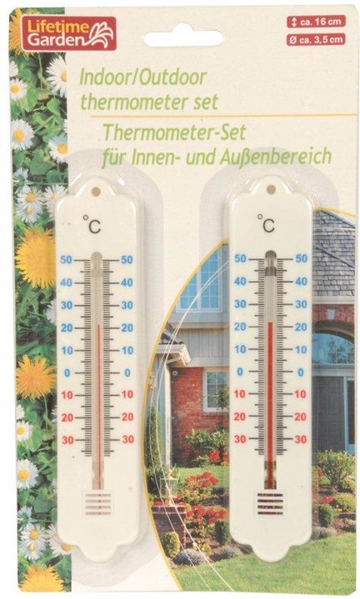 Thermometer binnen/buiten 2 stuks