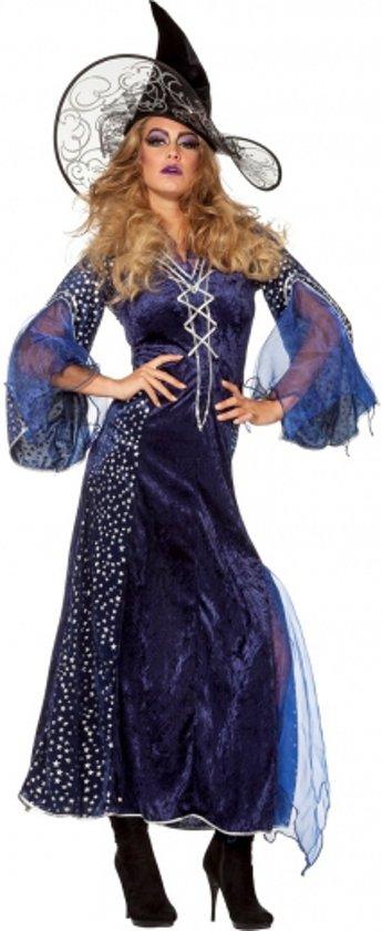Halloween Lange heksenjurk dames paars 40 (l)
