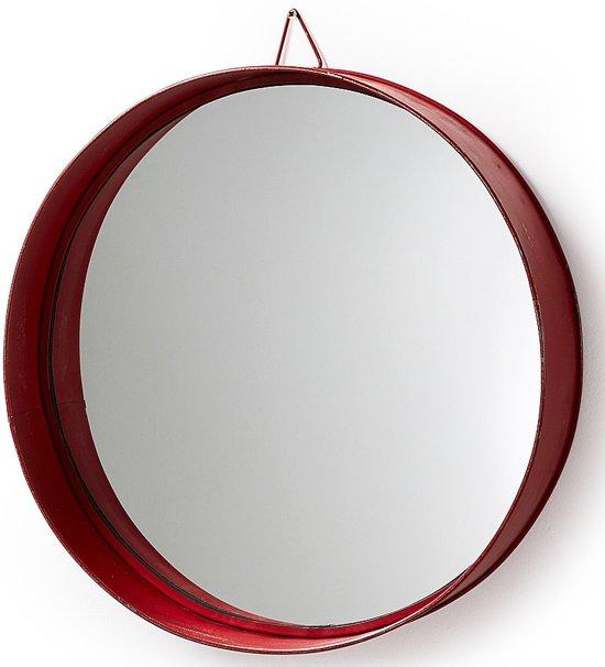 Kave Home Spiegel Odissa met rode metalen rand
