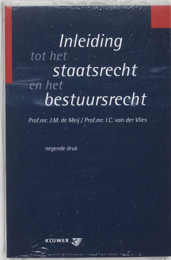Boek cover Inleiding tot het staatsrecht en het bestuursrecht van J.M. de Meij (Paperback)