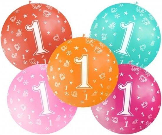 ballon 1 jaar bol.| Mega ballon 1 jaar   Wit   1ste verjaardag ballonnen  ballon 1 jaar