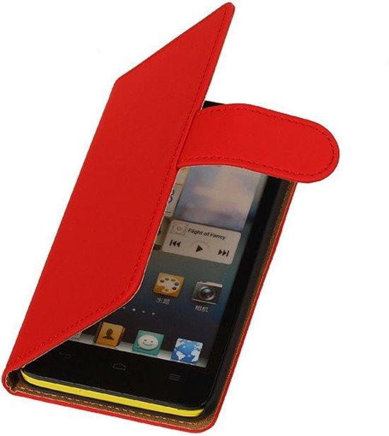 MP Case Bookcase Flip Wallet Hoesje - Huawei Ascend G525 Rood in Schouw / Skou