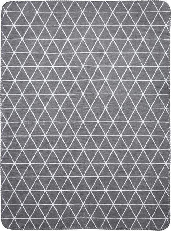 Meyco Triangle Wiegdeken - 75 x 100 cm - grijs/wit