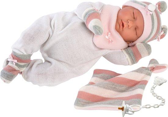 Llorens babypop slapend 40 cm met geluid