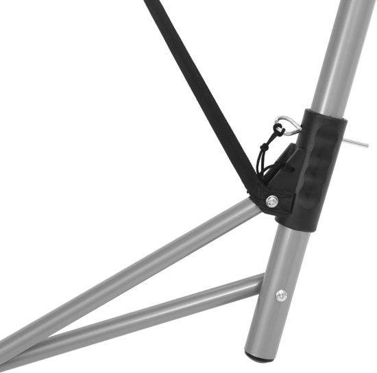 vidaXL Hangmat met inklapbare standaard grijs
