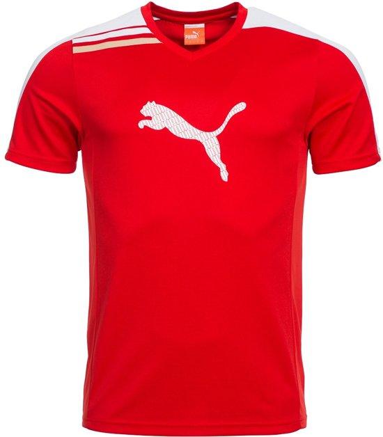 Puma Sport T shirt Esito Jongens Rood Maat 116