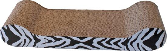 Katten Krabmeubel - Karton Sofa - Zebra - 50X22 Cm