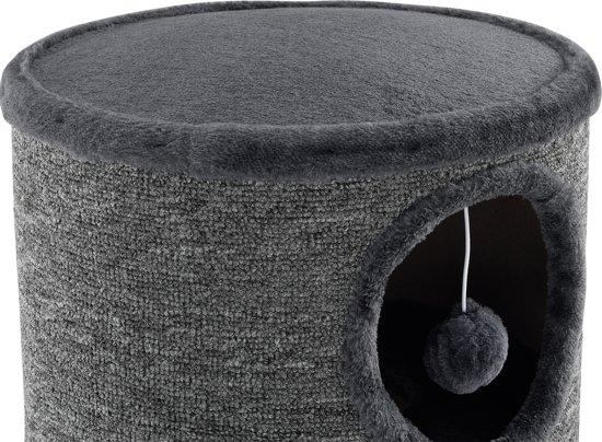 [en.casa]® Krabton - Krabpaal - grijs - 100 x 40cm