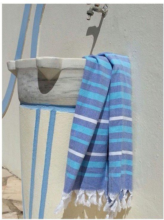 ZusenZomer hamamdoek IBIZA 95x185 Hamam strandlaken saunadoek  - Blauw turquoise