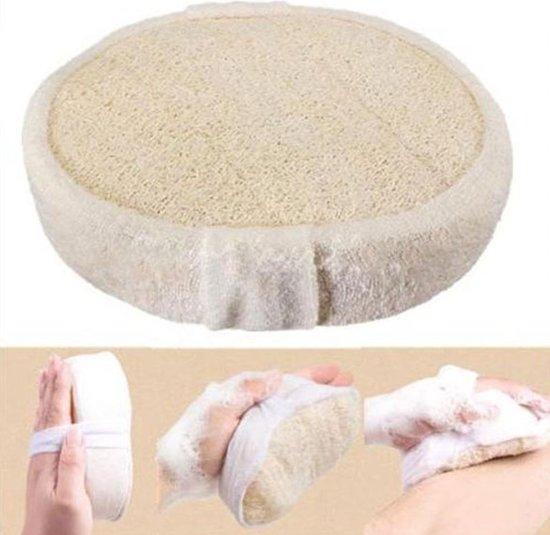 Loofah Badspons - Scrub & Massage Spons Bad - Douche Spons - Beige