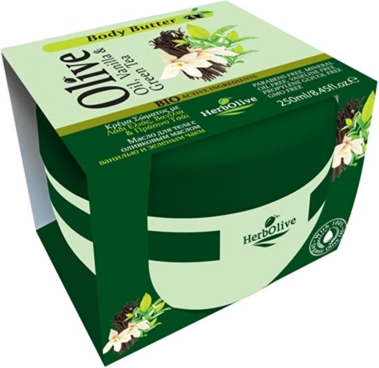 HerbOlive Body Boter *Olijfolie, Vanille & Groene Thee* 250ml
