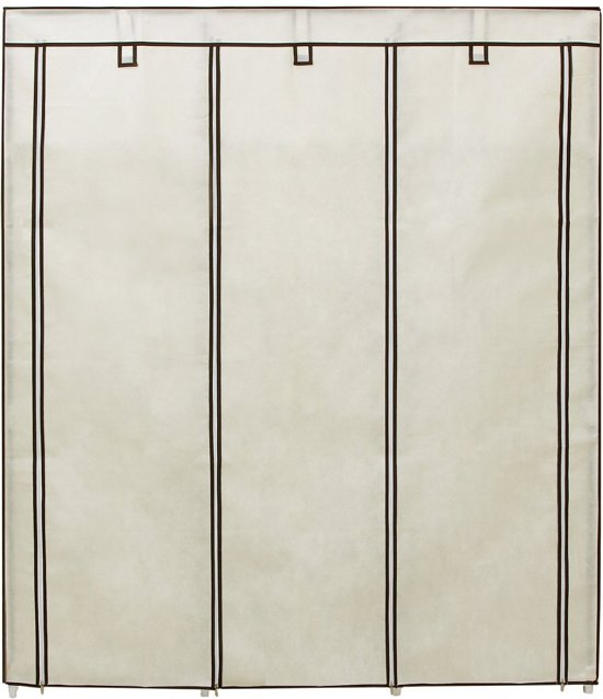 XL Opvouwbare Garderobekast - Grote Kleding Legplank Kast Stof - Stoffen Hangkast Legkast