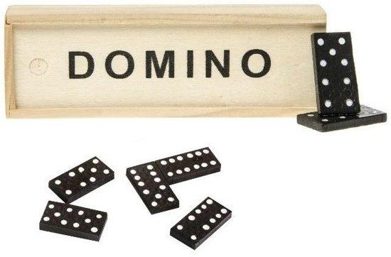 Afbeelding van het spel Domino spel in houten kistje