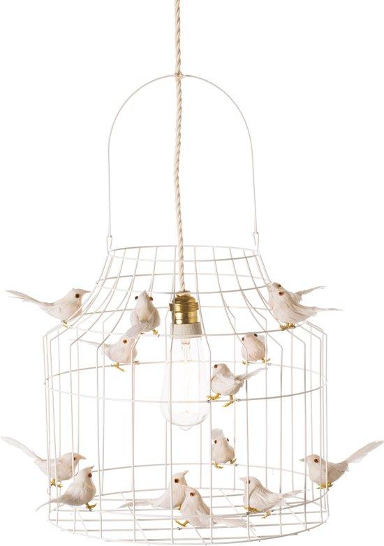 bol.com | witte hanglamp eettafel | slaapkamer | met vogeltjes nét echt!
