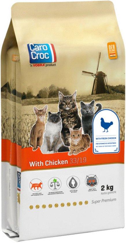 Carocroc Chicken & Rice - Kip/Rijst - Kattenvoer - 2 kg