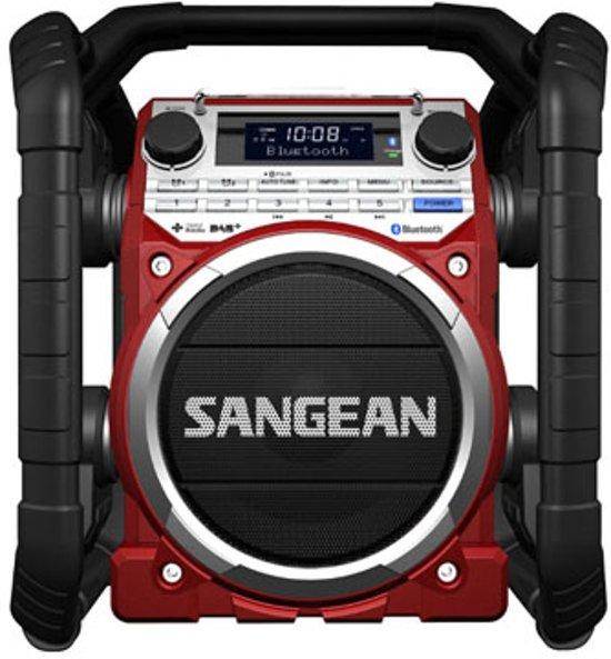 Sangean U-4 DBT - Draagbare bouw radio met DAB+  en Bluetooth  - Rood
