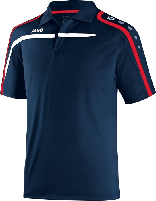 Jako Polo Performance - Sportpolo -  Heren - Maat M - Navy;rood;wit