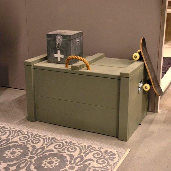 Speelgoedkist Army Green - Legerkist - Opbergkist - Dekenkist - Speelgoedkist