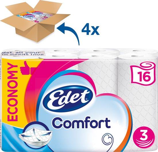 Edet Family Comfort - 3-laags toiletpapier - 4 x 16 rollen - halfjaar voorraad