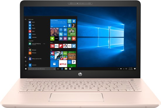 HP Pavilion 14-bk070na 2.40GHz i3-7100U 14'' 1366 x 768Pixels Wit, Goud Notebook - UK