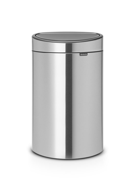Brabantia Touch Bin Mat Rvs.Brabantia Touch Bin Recycle Prullenbak 10 23 L Matt Steel